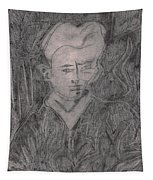After Billy Childish Pencil Drawing 2 Tapestry