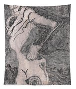 After Billy Childish Pencil Drawing 20 Tapestry