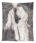After Billy Childish Pencil Drawing 21 Tapestry