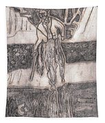 After Billy Childish Pencil Drawing 24 Tapestry