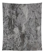 After Billy Childish Pencil Drawing 3 Tapestry