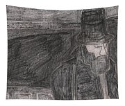 After Billy Childish Pencil Drawing 32 Tapestry