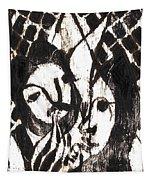 After Mikhail Larionov Black Oil Painting 14 Tapestry