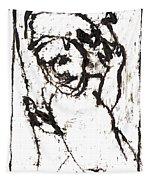 After Mikhail Larionov Black Oil Painting 16 Tapestry