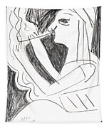 After Mikhail Larionov Pencil Drawing 1 Tapestry