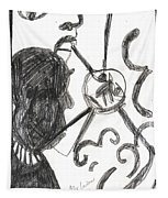 After Mikhail Larionov Pencil Drawing 13 Tapestry