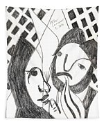 After Mikhail Larionov Pencil Drawing 14 Tapestry