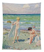 After The Swim  Oil On Canvas Tapestry