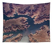 Air View Of Lake Powell Tapestry