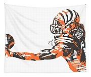 Aj Green Cincinnati Bengals Pixel Art 40 Tapestry