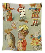 Alice In Wonderland Characters Tapestry