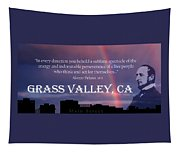 Alonzo Delano Grass Valley Quote Tapestry