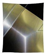 Aluminum Surface. Metallic Geometric Image.   Tapestry