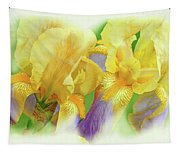 Amenti Yellow Iris Flowers Tapestry