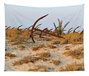 Anchors In Barril Beach Tapestry