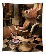 Animal - Rabbit - Hare Cut Tapestry by Mike Savad