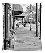 Antique Alley In Black And White Tapestry