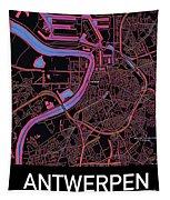 Antwerp City Map Tapestry by Helge