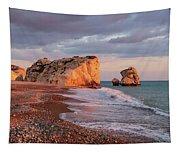 Aphrodite's Birthplace Or Petra Tou Romiou In Cyprus 2 Tapestry