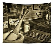 Apothecary-vintage Pill Roller Sepia Tapestry