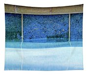 Aqua Agua Abstract Four Tapestry