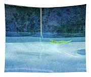 Aqua Agua And Leaf Tapestry
