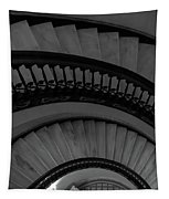 Arlington Stairs Layers Grayscale Tapestry