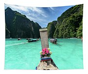 Arriving In Phi Phi Island, Thailand Tapestry