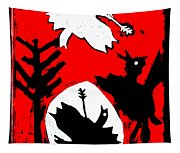Arrow Shot Bird Tapestry