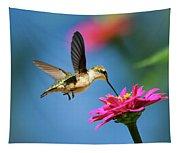 Art Of Hummingbird Flight Tapestry