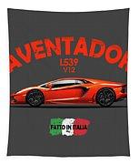 The Lamborghini Aventador Tapestry by Mark Rogan
