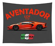 The Lamborghini Aventador Tapestry