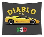 The Lamborghini Diablo Tapestry