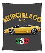 The Lamborghini Murcielago Tapestry by Mark Rogan