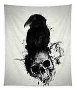 Raven And Skull Tapestry
