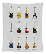 Guitar Icons No2 Tapestry