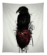 Raven And Heart Grenade Tapestry
