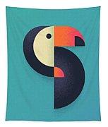 Toucan Geometric - Single Tapestry