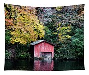 Red Boathouse Tapestry