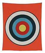 Vintage Target - Orange Tapestry
