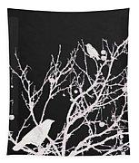 Raven - White Over Black Tapestry