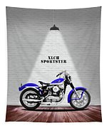 The Sportster Vintage Motorcycle Tapestry