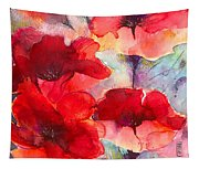 Abstract Poppies Tapestry