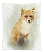 Woodland Fox Portrait Tapestry