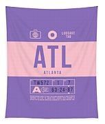 Retro Airline Luggage Tag 2.0 - Atl Atlanta United States Tapestry