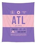 Retro Airline Luggage Tag 2.0 - Atl Atlanta United States Tapestry