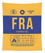 Retro Airline Luggage Tag 2.0 - Fra Frankfurt Germany Tapestry