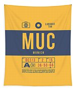 Retro Airline Luggage Tag 2.0 - Muc Munich International Airport Germany Tapestry