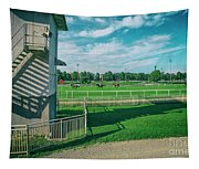 At The Racetracks #2 Tapestry