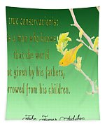 Audubon Warbler Quote Tapestry